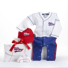 All Star Baseball Baby Gift Set