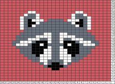 Tricksy Knitter Charts: Racoon by luisdaniela