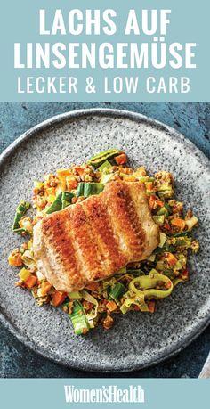 Fisch sollte es bei Ihnen ein- bis zweimal die Woche geben – zum Beispiel dieses Rezept für knusprigen Lachs auf cremigem Porreegemüse mit scharfen Linsen. Das ist nicht nur Low Carb und gesund, sondern auch richtig lecker