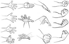Hands in different poses