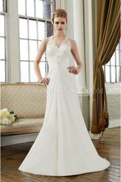 V-neck Nackhalter Trendiges Elegantes Hochzeitskleid