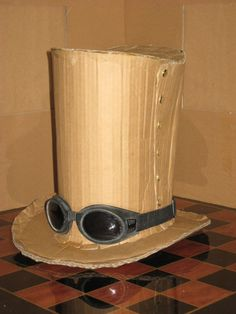 how to make a top hat out of tin can | Cardboard Top Hat