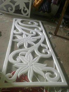 Thermocole Design Source by molhamk Pooja Room Design, Home Room Design, Diy Arts And Crafts, Decor Crafts, Thermocol Craft, Ganpati Decoration At Home, Foam Carving, Styrofoam Crafts, Jaali Design