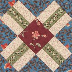 Railroad Crossing ~ Civil War quilt block