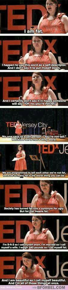 fat = unhealthy. Yes she is beautiful and deserves respect, but that doesn't change the fact that being fat is unhealthy.