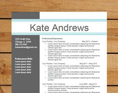 resume template cv template for word mac or pc professional - Resumes Templates For Word
