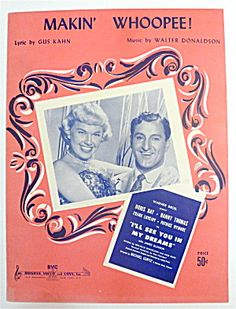 Sheet Music For 1928 Makin' Whoopee