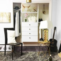 painted the drawer fronts of my new modular closet organizer, how to, painted furniture Modular Closets, Cheap Storage, Storage Ideas, Custom Closets, Closet System, Diy Holz, Drawer Fronts, Dresser As Nightstand, Closet Organization