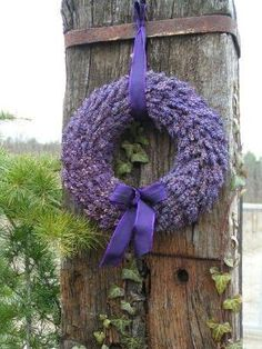 Lavender Wreath by Caroline C. ❦