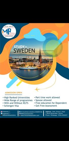 📚 Live study and work in Sweden🇸🇪 • January 2021 INTAKE • 🗓Deadlines are approaching near. • ✈️Plan your new journey of Higher Education with us; • 👉🏼Your Guidance Partner➡️ Call us 0334-4352431 Free Education, Higher Education, Work In Sweden, Networking Websites, Lahore Pakistan, New Journey, Ielts, Study Abroad, Life Skills