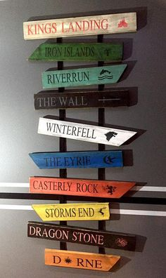 Game of Thrones Wood Signs...set of 10 signs by TheSalvagedMoon