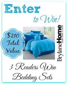 #Giveaway 3 Readers Win BrylaneHome Studio Bedding Sets! Total Value $210!!