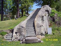 William A. Stowell  (1837 - 1913) Montpelier, Vermont.  A large stone at the side of the stairway lists the family names