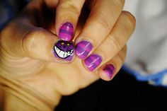 hair and stuff: Chechire Cat nail art