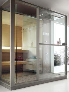 Паровые и сауны Effegibi: Logica Sauna Домашние SPA #hogart_art #interiordesign #design #apartment #house #bathroom #effegibi #shower #sink #SPA