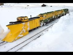 With some snow in Pennsylvania the Reading Railroad plow train comes out to clear the mainline of my Garden Railroad. You'll see the train struggle to get up. Union Pacific Train, Escala Ho, Train Miniature, Hobby Shops Near Me, Electric Train Sets, Garden Railroad, Hobby Trains, Snow Plow, Train Layouts