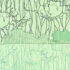 Tree Stripe in Pistachio