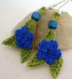 #Artesanía de #crochet. #Pendientes diseño de DIDIcrochet. Venta € 7 . http://DIDIcrochet.dawanda.com