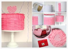 Valentine's Day DIY | Ruffled Cake Box