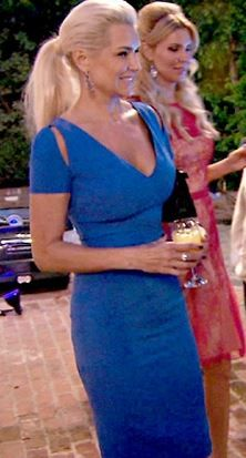 Yolanda Foster's Blue Cutout Dress at Kyle's Party | Big Blonde Hair : Big Blonde Hair