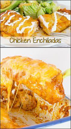 Chicken Enchiladas   www.joyineveryseason.com