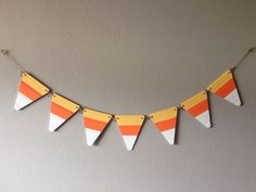 Candy Corn banner by JadoreCraftsBoutique on Etsy