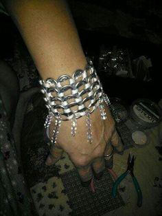 Pull tab bracelet