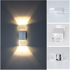 Modern 2W LED Wall Light Up Down Lamp Sconce Spot Lighting Home Bedroom Fixture #Wanunion #Modern