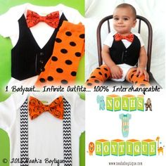 Baby Boy Halloween Outfit - Baby Boy First Halloween - Halloween Outfit Baby Boy - Baby Boy Halloween Clothes - Newborn Halloween by Noahs Boytique, $32.00