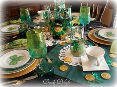 St. Patrick's Day Table Setting by dining delight, via Flickr