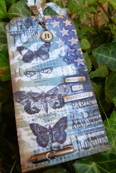Words and Pictures: Feeling bluesy... Tim Holtz 12 tags of 2013 - September