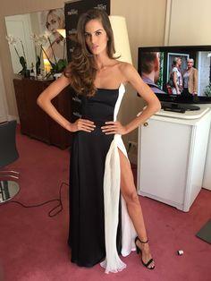 Izabel Goulart wears Gyunel couture #VictoriasSecret #IzabelGoulart #Gyunel #Couture #Fashion #Style #Model #Backstage #CannesFilmFestival