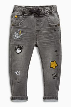 Buy Grey Badged Jeans (3mths-6yrs) online today at Next: United States of America