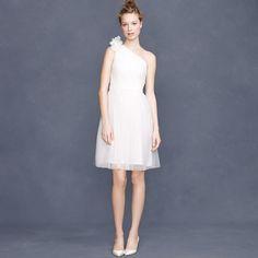 One-shoulder #second #wedding #dress