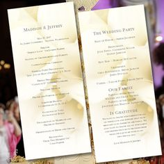 Wedding Program Template Calla Lily Tea Length Order Of Service Microsoft Word Editable Text Instant Diy You Print