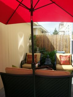 Patio space designed by Serena Monjeau Walkes, featured on Rate My Space.