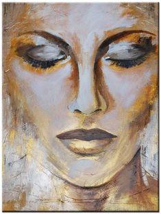 Portrait Paintings, Portrait Art, Abstract Drawings, Art Drawings, Face Art, Drawing Faces, Figurative Art, Painting Techniques, Painting Inspiration