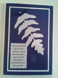 Condoleancekaart met gedicht.