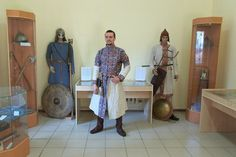 Reconstruction of Khazar warrior from 9th century, reenactor Alexander Panaskin