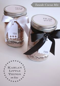 Tuxedo Cocoa Mix : White and Dark Chocolate : For the serious chocolate lovers! By KarlasLittleThings, $15.00 #etsy #handmade #gift