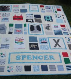 BABY CLOTHES Quilt Heirloom Memory Quilt by morethanjustquilts