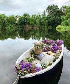 "LoveShackFancy 🎀 on Instagram: ""Plans for the rest of Summer 🌸🌸🌸 @estetka_alevtina"" Good Sunday Morning, Boat Wedding, Enchanted Home, Garden Bridge, Girls Night, Flower Art, Outdoor Structures, Photo And Video, Outdoor Decor"