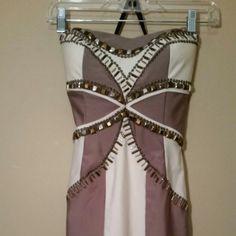 IN STORAGE UNTIL FEB. Bebe Dress  REDUCED $60!!!!! Bebe strapless Form fitting sequin embellished cocktail dress bebe Dresses