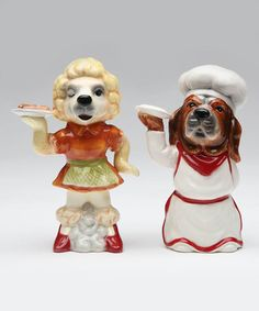 Look what I found on #zulily! Chef Dogs Salt & Pepper Shakers #zulilyfinds