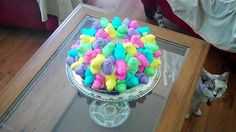 """The """"Peep"""" cake I made for Easter"""