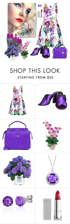 """""""spring theme"""" by susans-sg ❤ liked on Polyvore featuring City Chic, Gucci, Fendi, Nearly Natural, Belk & Co. and Lipstick Queen"""