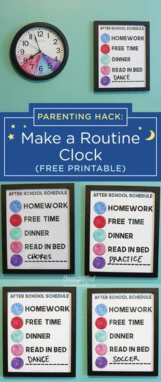 Use this easy parenting hack to bring a little more organization back into your life. Use a simple, inexpensive clock and this free printable after school schedule to plan out your kid's activities for each day of the week. If your child still wets the bed, be sure to add a section reminding her to put on her GoodNites Bedtime Pants. Their reliable bedwetting protection will help her stay dry all night long.