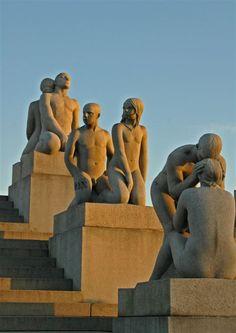"The Sculptures of Norwegian Sculptor Gustav Vigeland in ""The Vigelend Park"" in Oslo, Norway"