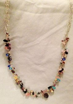 Crochet WireBraided Necklace w/ Various Colored by DesignsByGray