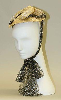 Hat Date: 1930s Culture: American Medium: straw